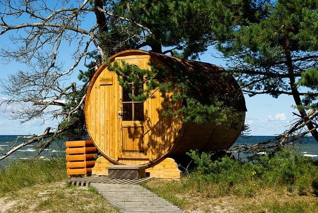 sauna zewnętrzna